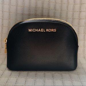 Michael Kors Black Leather Travel Pouch